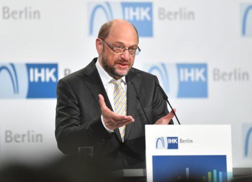 Martin Schulz mit Grundsatzrede in der IHK-Berlin