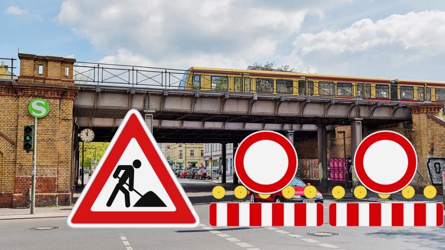 Brücke über die Wollankstraße wird erneuert