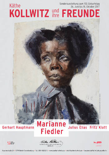 Ausstellungsplakat - Bild: Afrikanerin, 1889