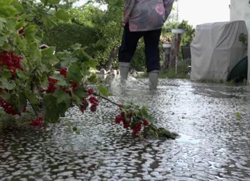 Immer noch Hochwasser in Tegel.