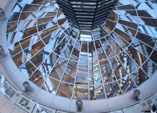 Blick aus der Bundestagskuppel