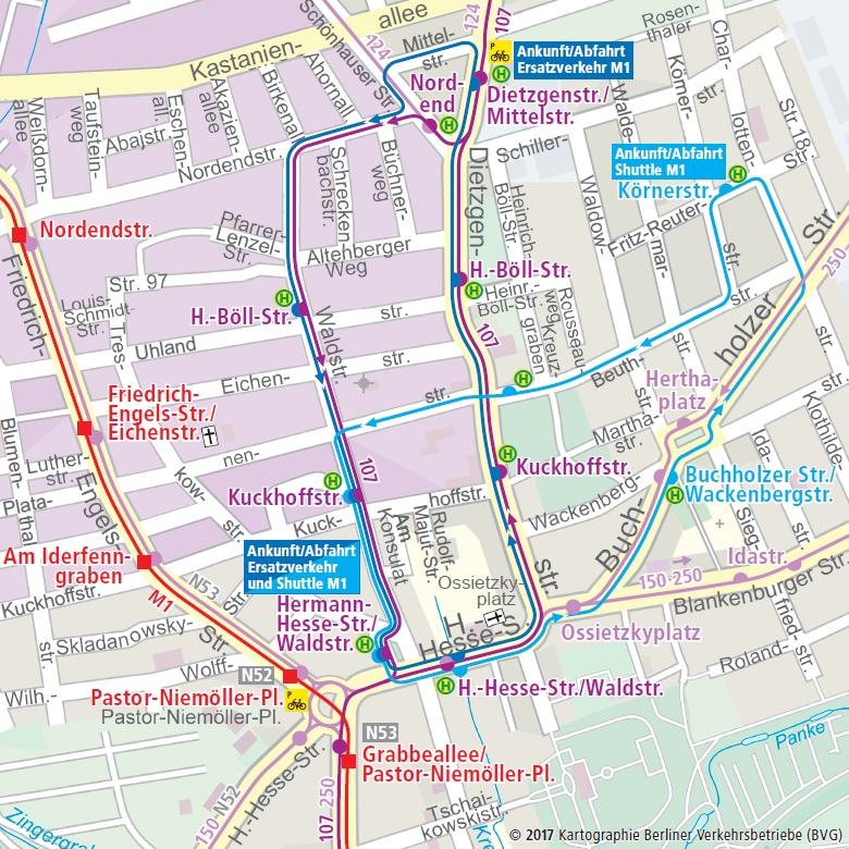 Busersatzverkehr M1