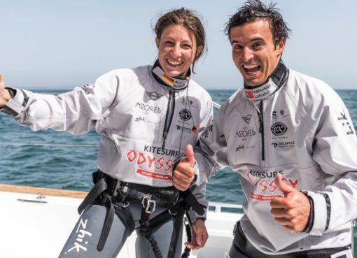 Kitsurfing extrem auf dem Atlantik