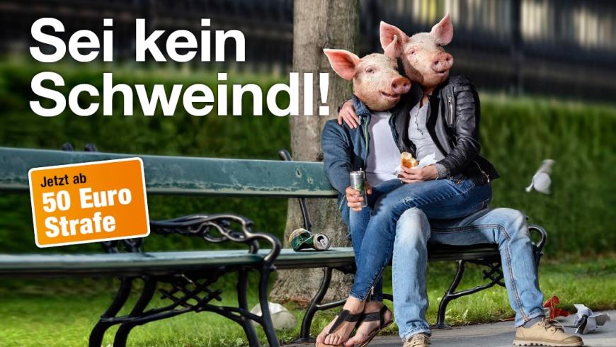 Stadt Wien: Sauberkeitskampagne 2017: Sei kein Schweindl