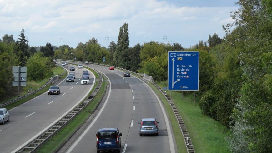 Autobahnzubringer A114 Pankow