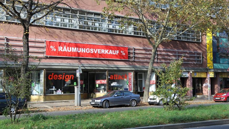 design attack Räumungsverkauf