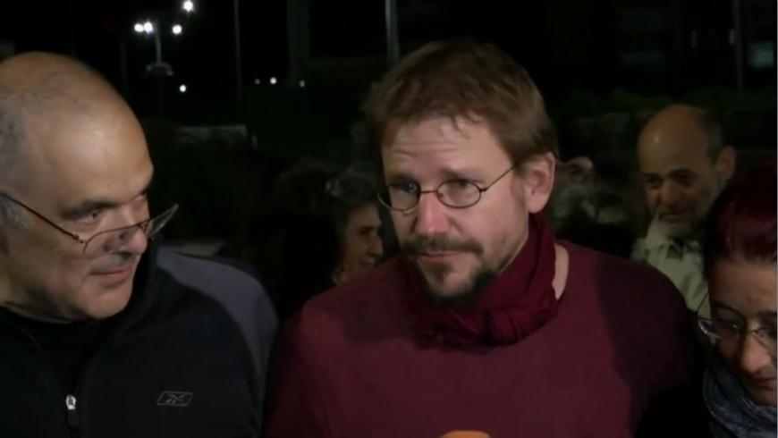 Peter Steudtner kurz nach seiner Freilassung