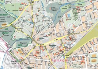 Bezirkskarte Pankow 1:15.000 - Ausschnitt Alt-Pankow