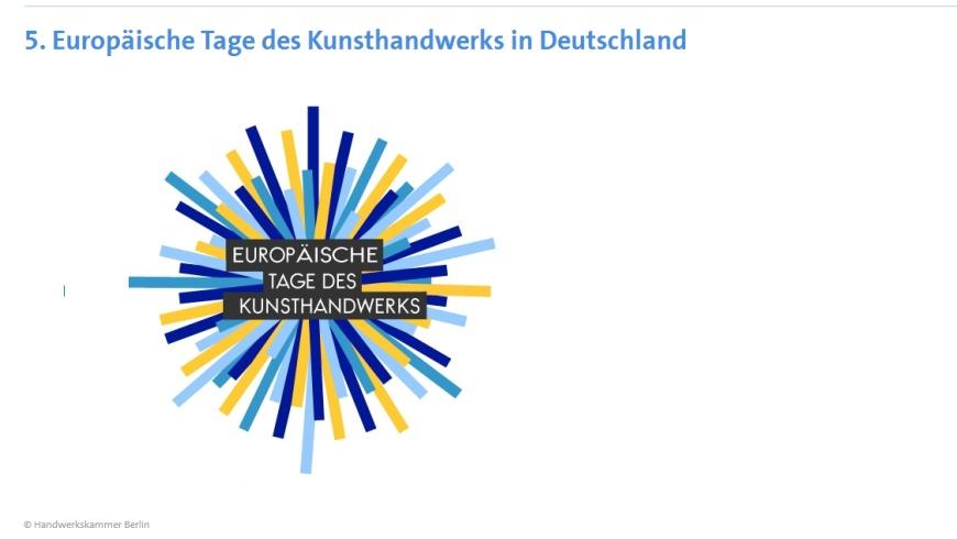 Europäische Tage des Kunsthandwerks 2018