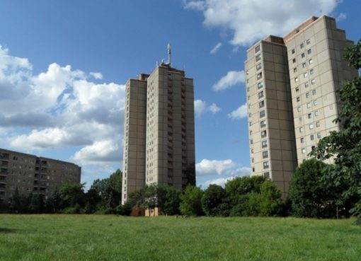 Wohnhochhäuser im Thälmann-Park