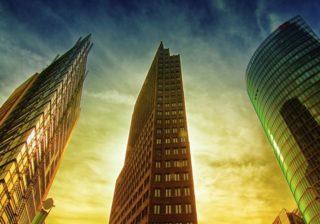 Hochhäuser am Potsdamer Platz in Berlin