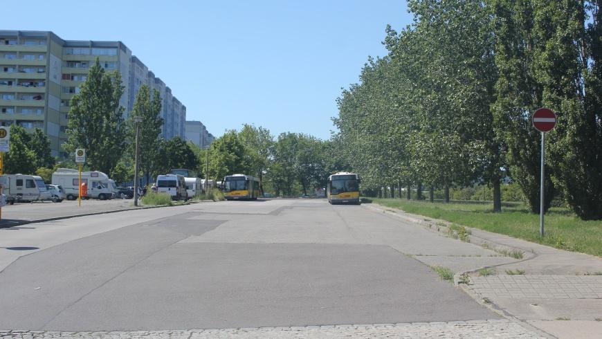 Busendhaltestelle Michelangelostraße