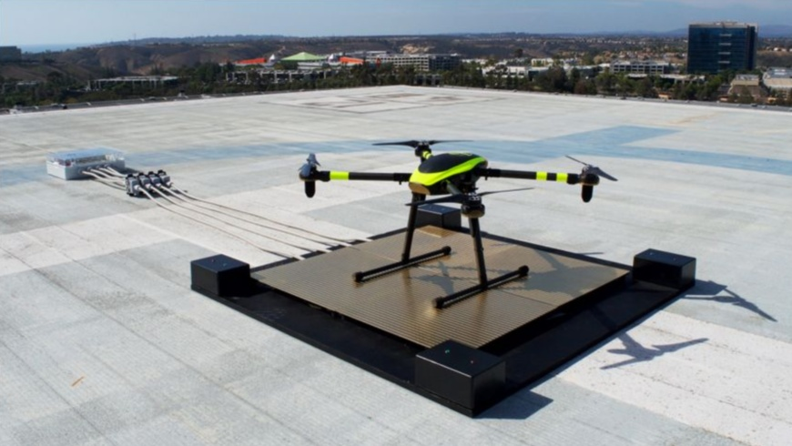Dronepad-Ladestation