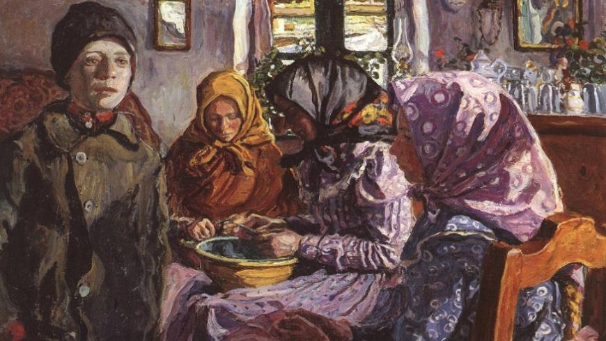 Erbsenschälerinnen 1906