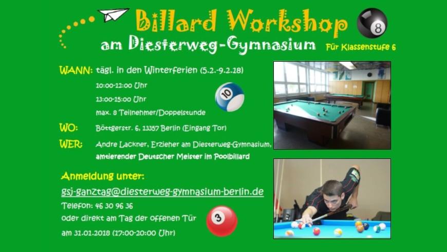 Billard Workshop