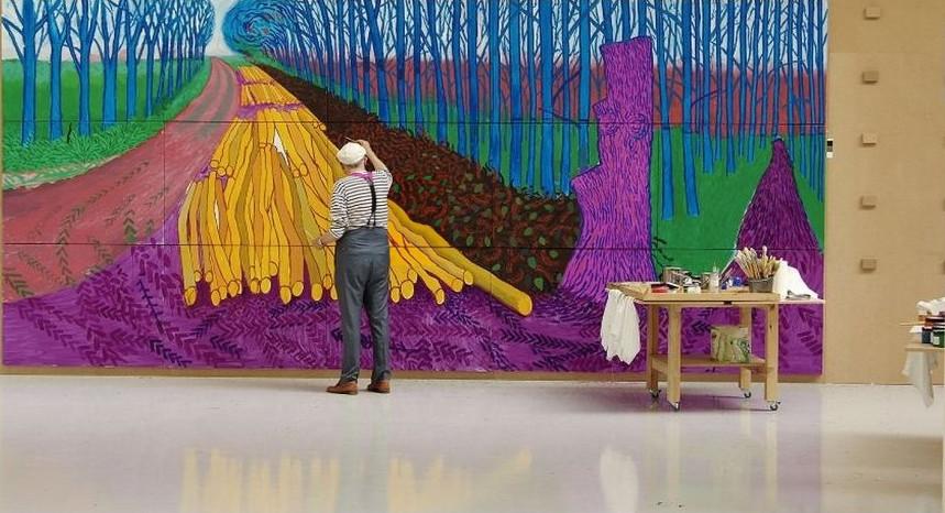 David Hockney in der Royal Academy of Arts