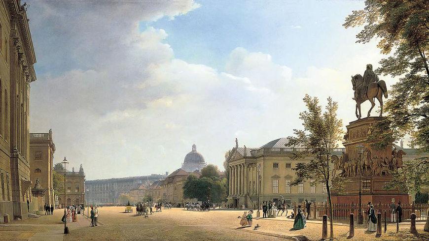 Eduard Gaertner: Berlin, Unter den Linden, 1852
