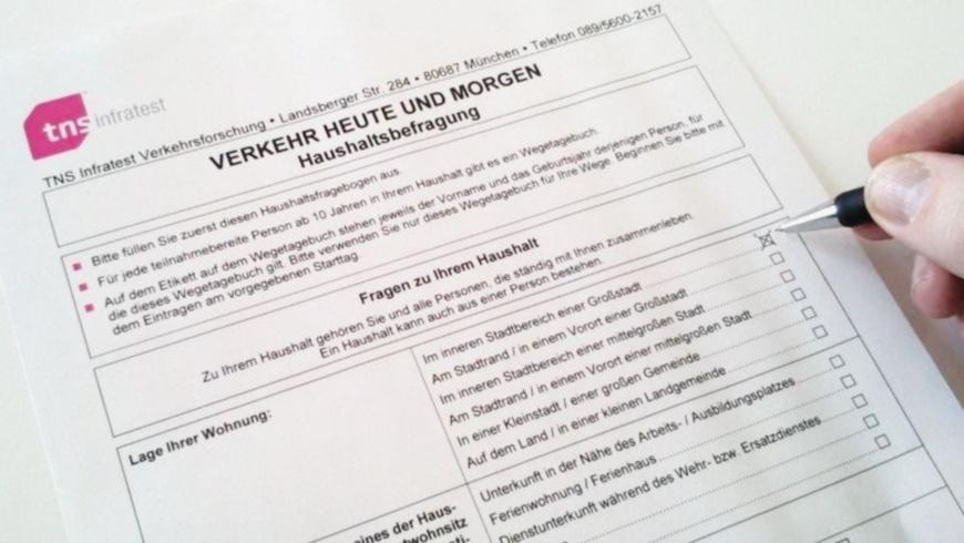 TNS Infratest Fragebogen