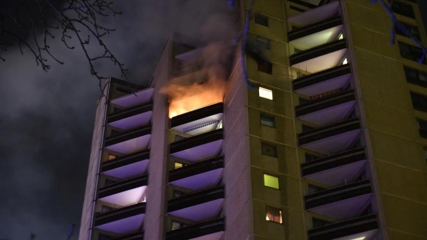 Brand in Hochhauswohnung