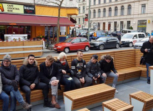Parklet in der Bergmannstraße: