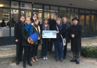 Spende für Kältehilfe der Stadtmission