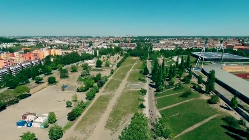 Überblick über den Mauerpark