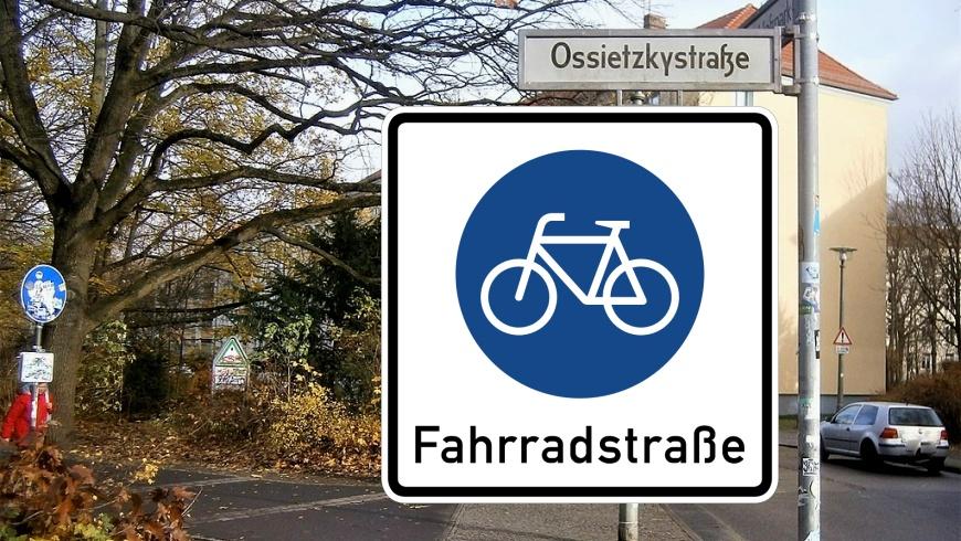 Ossietzkystraße wird zur Fahrradstraße
