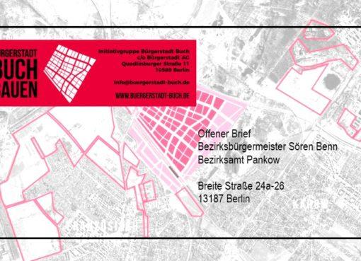 """Offener Brief """"Initiative Bürgerstadt Buch"""""""