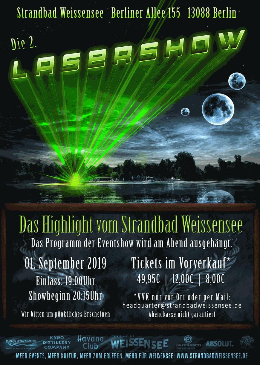 2. Lasershow im Strandbad Weissensee