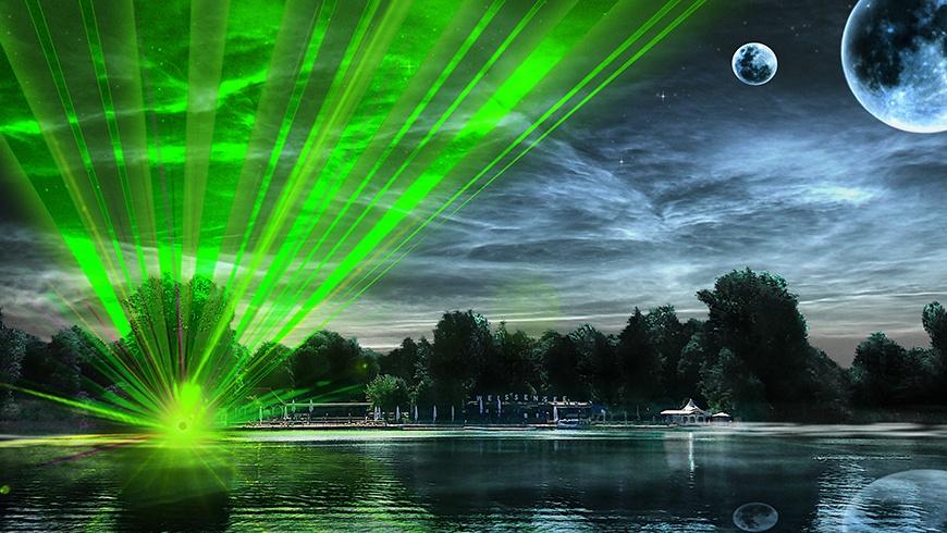 2. Lasershow im Strandbad Weissensee am 1.9.2019