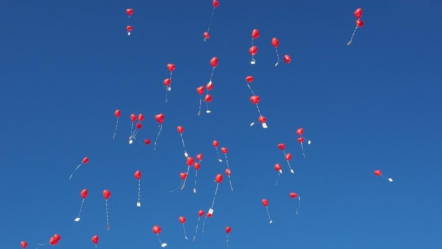 Heliumgefüllte Luftballons