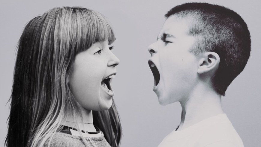 Kinderstreit und Geschrei