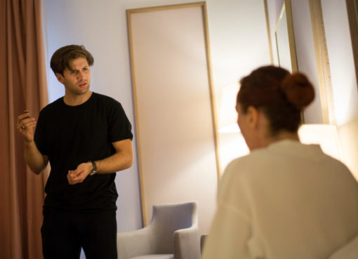 Menschen Im Hotel, Joachim Villegas und Cornelia Schoenwald
