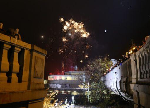 Feuerwerk über der Bösebrücke