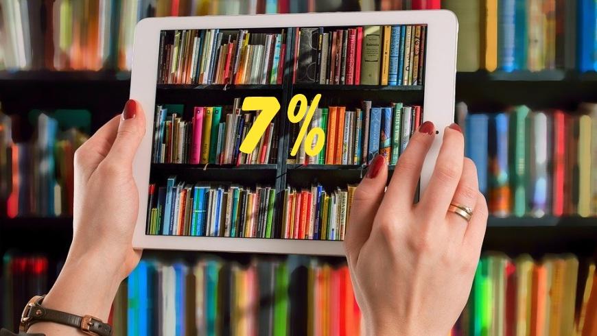 7% MWST. für digitale Medien und Bücher