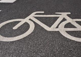 Radwegemarkierung