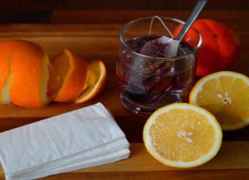 Heißer Tee und Vitamine