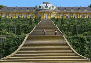 Südseite von Schloß Sanssouci in Potsdam