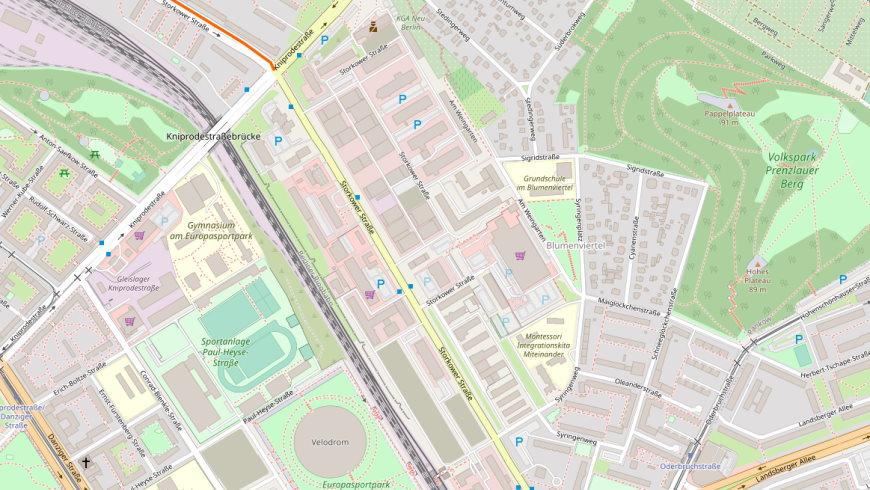 Gewerbegebiet Storkower Straße