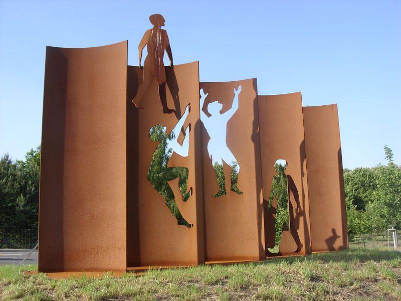 Mauerdenkmal an der B96 in Blankenfelde-Mahlow