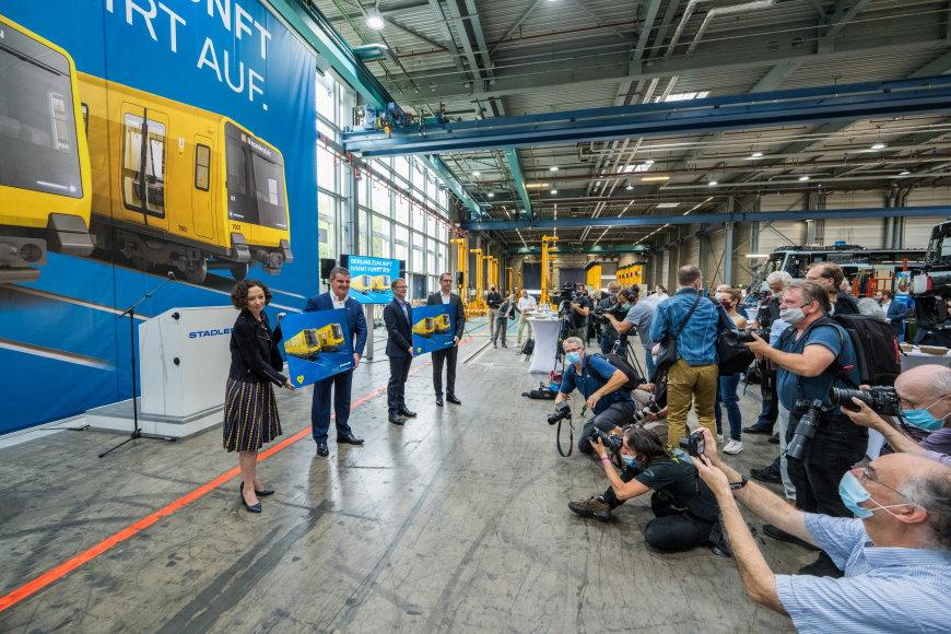 Vorstellung der neuen U-Bahn-Baureihen am 24.8.2020 bei Stadler in Pankow - Foto: BVG