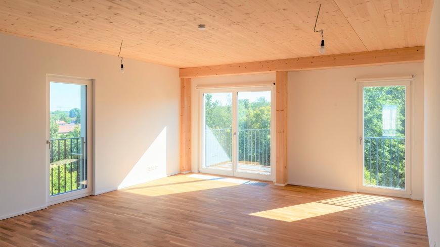 Holzbauqualitäten: Wohnung im Quartier WIR - Foto: © Erik-Jan Ouwerkerk