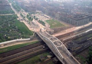 Historisches Luftbild der Bösebrücke