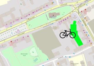 Unterirdisches Fahrrad-Parkhaus