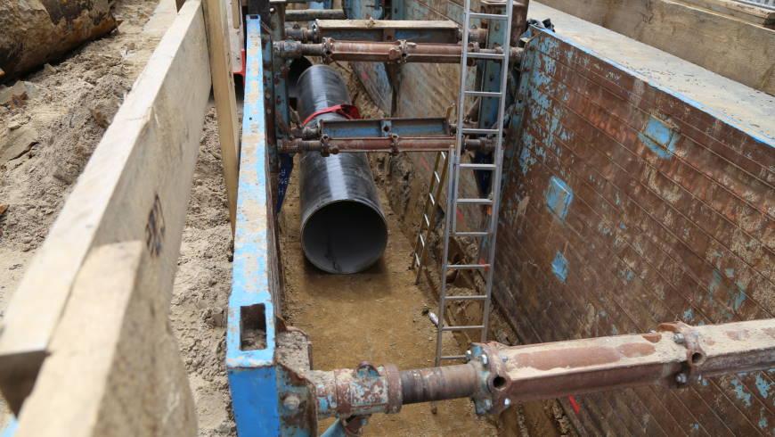 Berliner Wasserbetriebe bauen