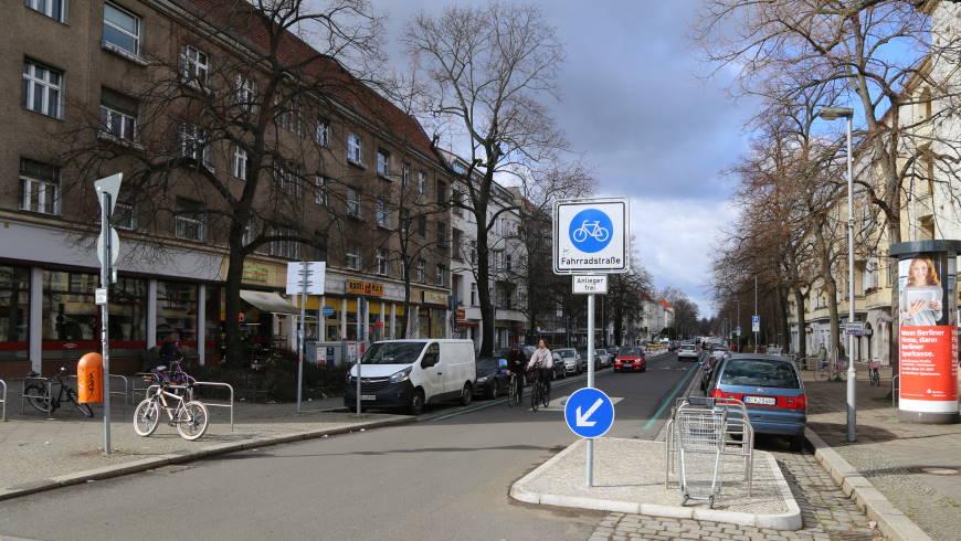 Fahrradstraße in Alt-Pankow