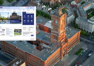 Rotes Rathaus mit berlin.de